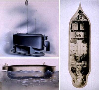 Tesla Robot sommergibile 1898